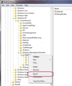 OutlookProfileExport