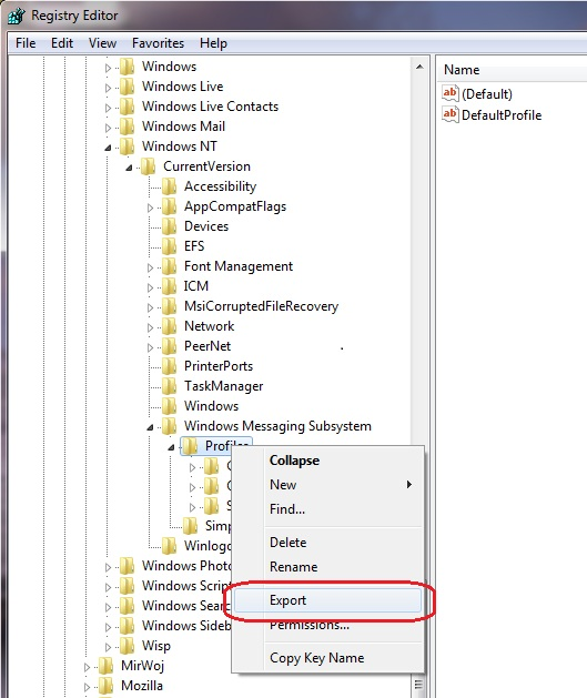 windows profile editor
